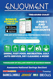enjoyment treasure coast coupon book by savearound issuu