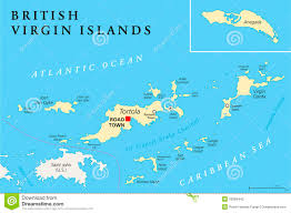 Map Of Caribbean Islands by British Virgin Islands Political Map Stock Vector Image 52685442