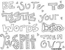 printable page of quotes 73 best color the quote images on pinterest coloring sheets