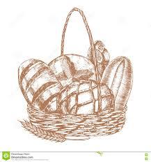 bread sketch stock vector image 68781432