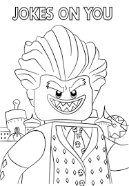 jocker lego batman movie coloring free printable