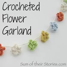 flower garland crochet flower garland sum of their stories