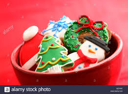 bowl filled with christmas cookies stock photo royalty free image