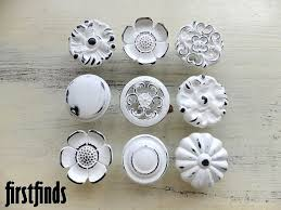 Kitchen Dresser Shabby Chic by White Distressed Knobs Drawer Knobs Pinterest Shabby