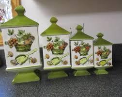 unique kitchen canisters sets unique canister sets etsy