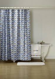 bathroom blue grey shower curtain with horse pattern for bathroom