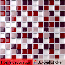 vinyl 3d peel and stick wall tile sticker for kitchen backsplash