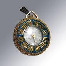 vintage necklace watch pendant images Vintage lucerne wind up watch pendant blue enamel with gold jpg