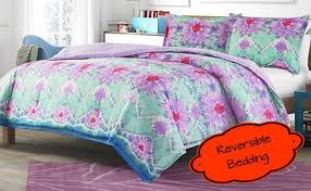 Tie Dye Comforter Set Twin 2 Pc Pink Purple Turquoise Reversible Tie Dye Comforter Set