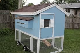 chicken playhouse on wheels backyard chickens