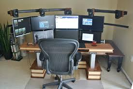 Dual Computer Desks Computer Desks Articulating Dual Arm Computer Monitor Desk Mount