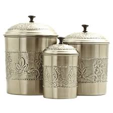 tin kitchen canisters 3 kitchen canister set reviews wayfair