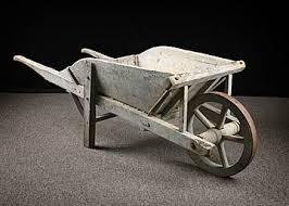 Wooden Wheelbarrow Planter by French Antique Wooden Wheelbarrow Woodworking Project Ideas
