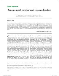 Perineal Dissection Of Synchronous Abdominoperineal Squamous Cell Carcinoma Of Colon And Rectum Pdf Download Available