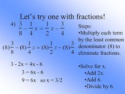 how to solve one step equations with fractions on both sides