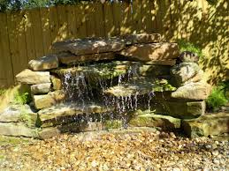 natural pondless water feature features ideas backyard small