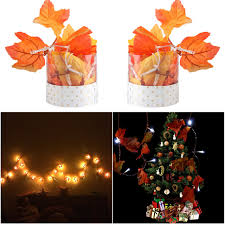 battery lighted fall garland 1pc new christmas battery operated 10 led fall leaves string light