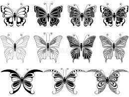 set of eleven ornamental butterflies stock vector image 53761277