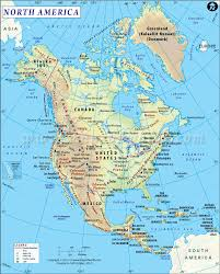 Physical Map South America by One Of The Best Maps North America Shows Physical Landform