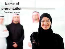 arabic woman powerpoint template u0026 backgrounds id 0000011464