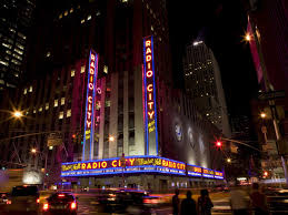 radio city music hall theater in midtown west new york