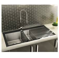 UK Stainless Steel Kitchen Sinks Appliance House - Black glass kitchen sink