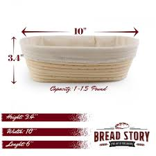 amazon com 10x6 inch oval proofing basket set by bread story