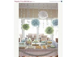 candy bar baby shower baby shower sprinkle decor paper poms and garland chains