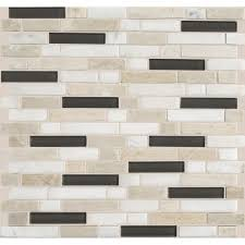 Glass And Stone Backsplash Tile by Daltile Stone Radiance Kinetic Khaki 11 3 4 In X 12 1 2 In X 8