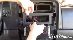 how to install radio head mount in 1997 2001 jeep cherokee xj