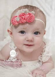 baby hairbands coral baby headband newborn headband flower by thinkpinkbows