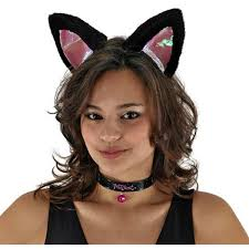 halloween cat ears headband amazon com elope large cat ears set black pink clothing
