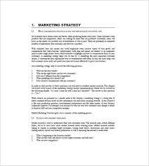 international marketing plan template 9 free sample example
