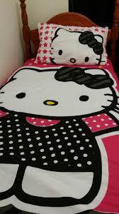 sanrio hello kitty single bed flatsheet quilt duvet cover envybuy