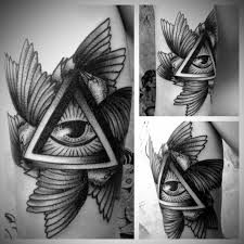 33 best amazing triangle with eye tattoos images on