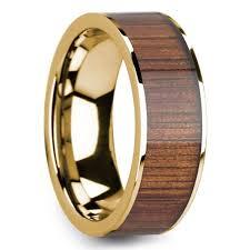 mens wedding bands wood inlay mens rings with wood inlay wide koa wood inlay mens wedding ring
