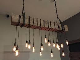 chandeliers custom made reclaimed barn beam chandelier light