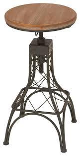 Steampunk Bar Stools Metal And Wood Adjustable Bar Stool Industrial Bar Stools And