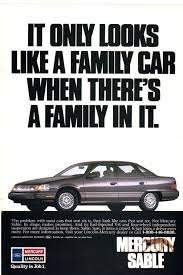 1989 mercury sable ad from national geographic october 1989