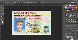 nj sora class new jersey driver license template psd template usa uk eu ca au