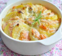 cuisiner le saumon gratiné de pommes de terre au saumon fumé envie de bien manger