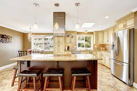 Beautiful Kitchen Island Beautiful Kitchen Island With Granite Top And Stock Image