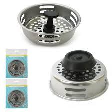 kitchen sink strainer basket alltopbargains rakuten 2 pc stainless steel kitchen sink drain