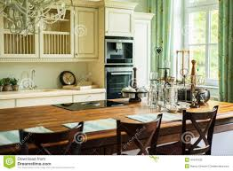 new modern kitchen in old style stock photo image 47041633