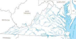 america map with rivers rivers and watersheds of virginia