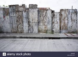 corrugated iron wall or fence stock photo royalty free image