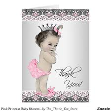 Baby Shower Invitations And Thank You Cards Pink Princess Baby Shower Thank You Cards Baby Shower Thank