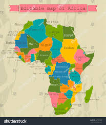 africa map all countries editable map africa all countries vector stock vector 147397355