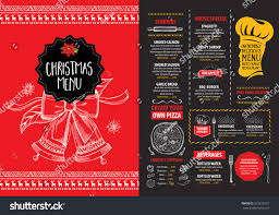 christmas party invitation restaurant menu design stock vector
