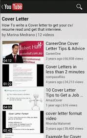 cover letter android apps on google play